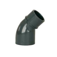 Bazénové pvc koleno s vnitřním a vnějším lepením, úhel 45st 50x50