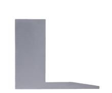 Hliníkový kryt kotvícího profilu (45 x 208 x 2) pro skleněné zábradlí