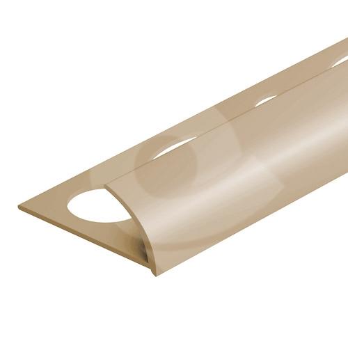 Obloučková ukončovací lišta otevřená Cezar pvc béžová 12mm 2,5m