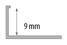 Ukončovací L profil Cezar plast černá 9mm 2,5m