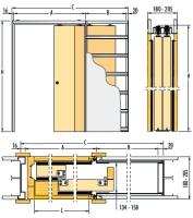 Pouzdro pro posuvné dveře do SDK 180mm Eclisse Teleskop