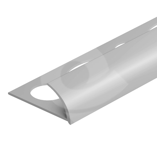 Obloučková ukončovací lišta otevřená Cezar pvc stříbrná matná 8mm 2,5m