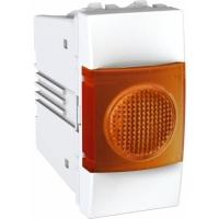 Indikační kontrolka Unica, 1 modul, oranžová/bílá