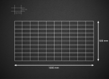 Gabionová síť 100x50cm, velikost oka 5x10cm, pr. drátu 4mm