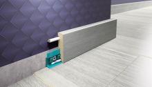 Lišta podlahová soklová mdf ořech 58 mm 2,4 m