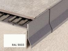 Balkonová T lišta s okapničkou Profilpas Protec CPCV hliník bílý RAL 9003 55x12,5x2,7m