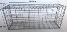 Gabionový koš 200x50x40, velikost oka 5x10cm, Ø drátu 4mm