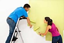 Malování stěny válečkem běžnou vinylovou barevnou barvou v 1 vrstvě, cena práce za m2