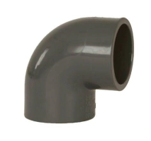 Bazénové pvc koleno lepené šedé, úhel 45st