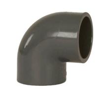 Bazénové pvc koleno lepené šedé, úhel 90st 20mm