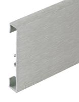 Podlahová soklová lišta Profilpas hliník kartáčovaný titan 60 mm 2 m