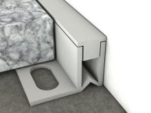 Dilatační lišta pro nízké tloušťky Profilpas Projoint NJ/SA stěna/podlaha pvc šedá RAL 7035 8mm 2,7m