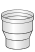 Komínový přechod a redukce pro kondenzační kotle