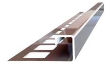 Ukončovací profil Ligma čtvercový hranatý nerez vysoký lesk 9mm 2,5m