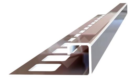 Ukončovací profil Ligma čtvercový hranatý nerez 9mm 2,5m