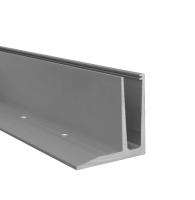 Hliníkový kotvící profil s vrchním kotvením pro skleněná zábradlí, 2500 mm
