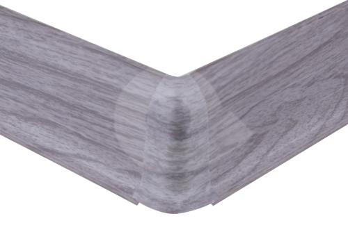 Cezar PREMIUM vnější roh, PVC, 59mm, dub světle šedý, dekor 078