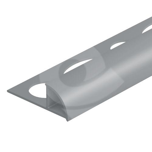 Ukončovací lišta obloučková uzavřená PVC 6 mm 2,5 m světle šedá