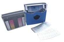 """Bazénový tester DPD """"D"""" Oxy/pH metoda pomocí tablet, lovibond, modrý"""