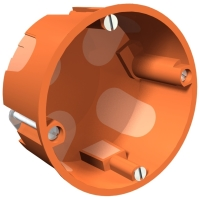 Elektroinstalační krabice HG do sádrokartonu (68x35mm) - oranžová