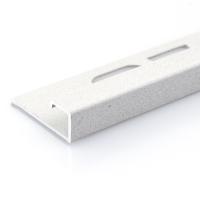 Čtvercový ukončovací profil Profilpas hliník lakovaný matný krémový 12,5mm 2,7m