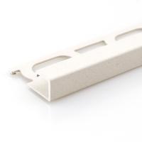 Čtvercový ukončovací profil Profilpas hliník lakovaný matný béžový 12,5mm 2,7m