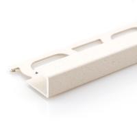 Čtvercový ukončovací profil Profilpas hliník lakovaný matný béžový 8mm 2,7m