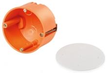 FTR krabice do sádrokartonu + víčko 70x50mm oranžová