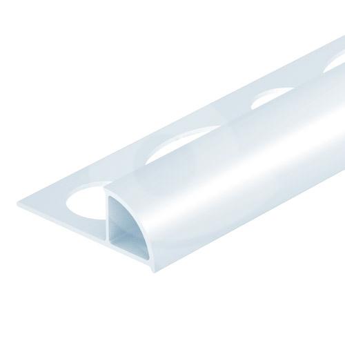 Ukončovací lišta obloučková uzavřená PVC 6 mm 2,5 m bílá
