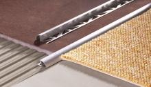 Nájezdová lišta oblá Cezar hliník přírodní 10mm 2,5m