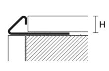 Profil pro venkovní roh k obkladu Profilpas nerez přírodní 10mm 2,7m