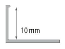 Ukončovací L profil Cezar plast bílý 10mm 2,5m