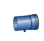 Komínový díl s odvodem kondenzátu