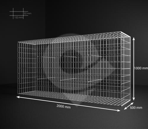 Gabionový koš 200x100x50, velikost oka 5x10cm