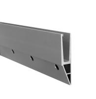 Hliníkový kotvící profil s bočním kotvením pro skleněné zábradlí, 2500 mm