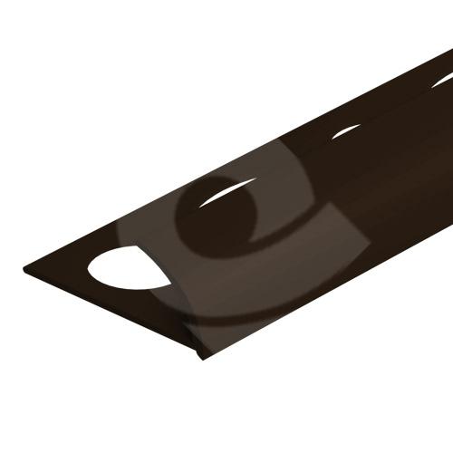 Obloučková ukončovací lišta otevřená Cezar pvc čokoládová 10mm 2,5m