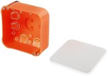 FTR krabice do sádrokartonu + víčko 107x107mm oranžová