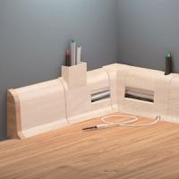 Cezar DUO koncovka levá+pravá, PVC, 59mm, tasmánské dřevo, dek.101