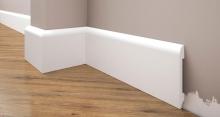Cezar Elegance podlahová soklová lišta 78x13 mm 2,44 m bílá