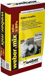 Suchá maltová směs pro zdění Weber mix zdící 5MPa 25kg