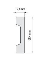 Cezar Elegance podlahová soklová lišta 68,4x15,3 mm 2,44 m bílá