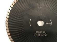Diamantový kotouč řezný  TURBO + n  beton, cihla, dlažby, slín, pórobeton  pr. 230mm