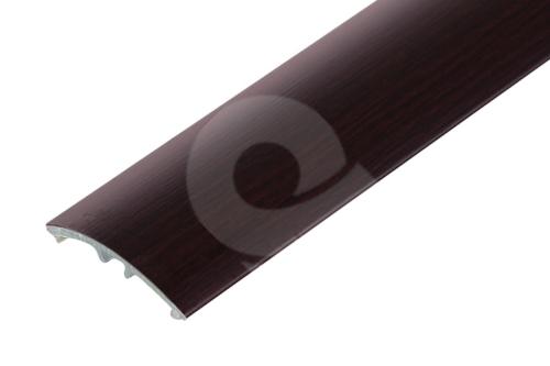 Přechodová lišta Cezar narážecí 30mm 2,7m ořech tmavý
