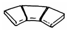 Bazénová rohová dlaždice Ardoise R 610 int., 3 kusy