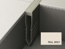 Šípová dilatační lišta do betonu Profilpas Projoint NF plastová krémově bílá 35mm 2,7m