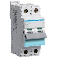 Modulový jednofázový jistič 10A/D 10kA Hager