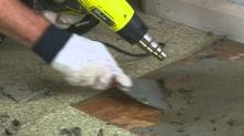 Odstranění vinylové podlahy, cena práce za m2