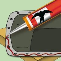 Acetátový silikonový tmel Den Braven Gasket Sealant 23ml Red Line
