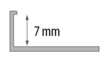 Ukončovací L profil Cezar plast světle šedá 7mm 2,5m