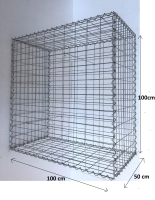 Gabionový koš 100x100x50, velikost oka 5x10cm, Ø drátu 4mm